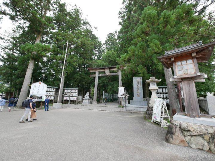 熊野本宮大社の入口にある 一の鳥居