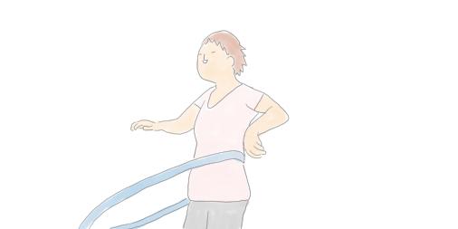 お家でできる有酸素運動|フラフープ