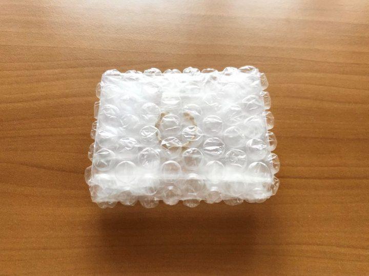 メルカリ指輪の梱包方法 緩衝材で包む