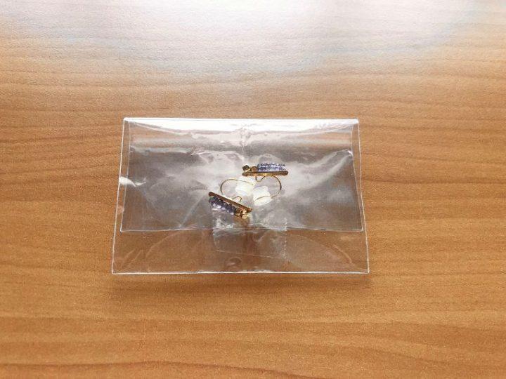 メルカリで売れた後、ピアスとイヤリングを梱包する方法→袋に入れる