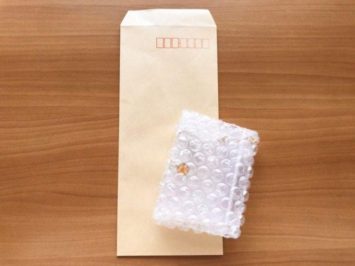 メルカリ ネックレスを梱包する方法→封筒へ入れる